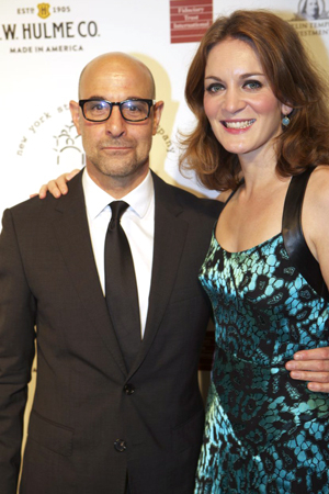 <p>Stanley Tucci (seen here with Felicity Blunt) was the evening&#39&#x3B;s honoree.</p><br />(© Christopher Gower Johnson)