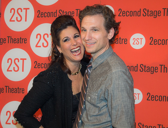 <p>Stephanie J. Block and Sebastian Arcelus always have a great time.</p><br />(© Seth Walters)