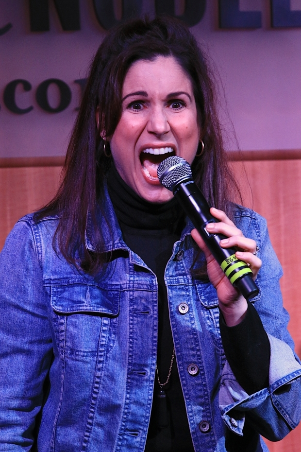 <p>Stephanie J. Block passionately sings at Barnes &amp&#x3B; Noble.</p><br />(© Tricia Baron)