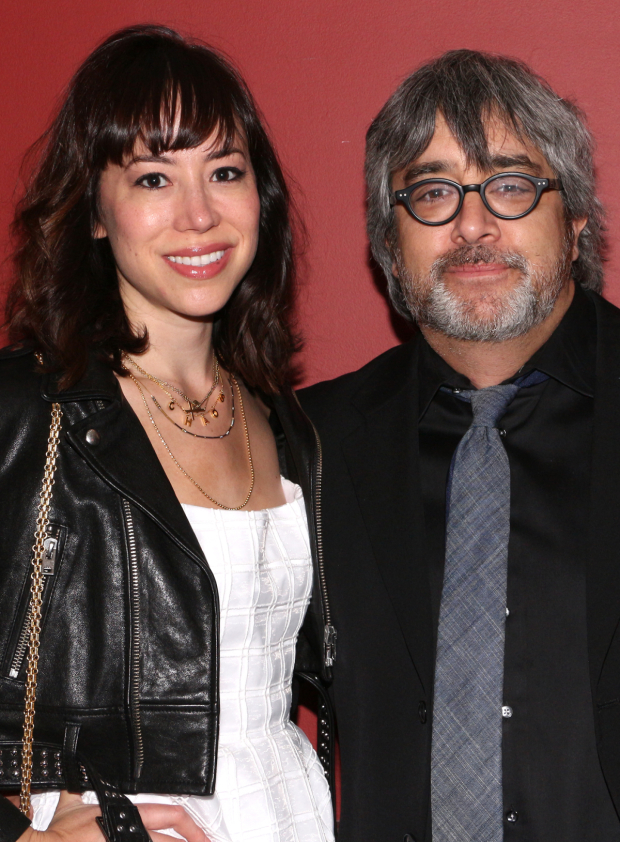 <p>Stephen Adly Guirgis (with his date, Melanie Maras) — Outstanding New Off-Broadway Play for <em>Between Riverside and Crazy</em></p><br />(© David Gordon)