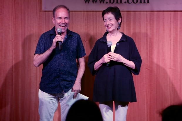 <p>Stephen Flaherty and Lynn Ahrens addressed the crowd.</p><br />(© Tricia Baron)