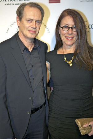 <p>Steve Buscemi and Jo Andres were on hand to celebrate New York Stage and Film.</p><br />(© Christopher Gower Johnson)