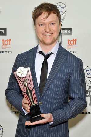 <p>Steven Boyer won the Outstanding Lead Actor in a Play award for <em>Hand to God</em>.</p><br />(© Getty Images)