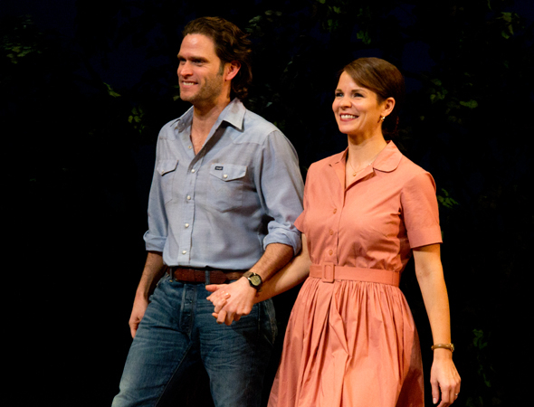 <p>Steven Pasquale and Kelli O&#39&#x3B;Hara lead the company as Robert Kincaid and Francesca Johnson.</p><br />(© David Gordon)