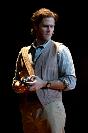 <p>Steven Pasquale as <em>National Geographic</em> photographer Robert Kincaid.</p><br />(© Joan Marcus)