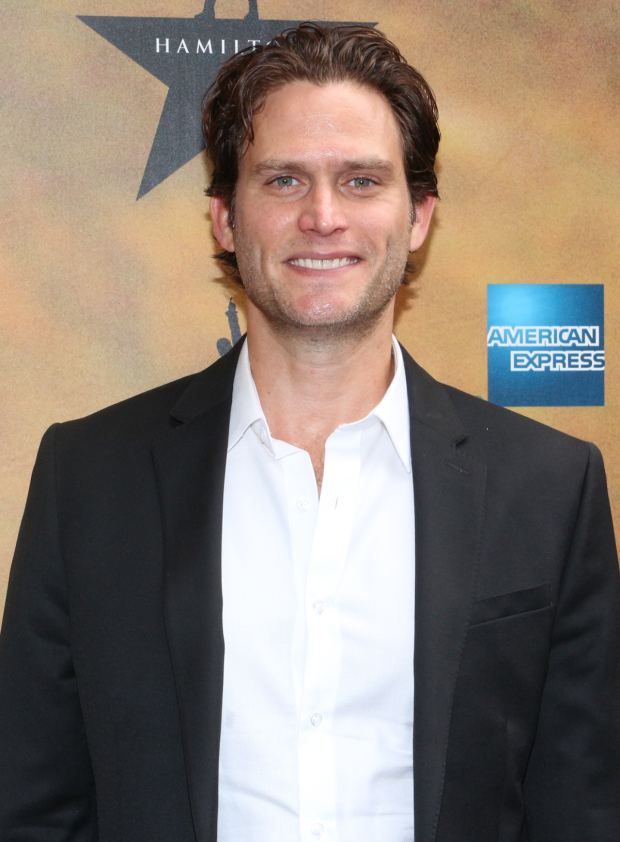 <p>Steven Pasquale is so excited to cheer on all his friends in <em>Hamilton</em>.</p><br />(© David Gordon)