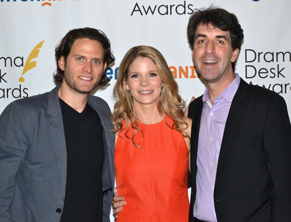 <p>Steven Pasquale, Kelli O&#39&#x3B;Hara, and Jason Robert Brown — nominees for <em>The Bridges of Madison County</em>.</p><br />(© David Gordon)