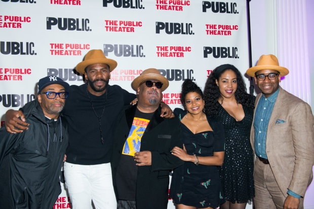 <p>Stew reunites with Spike Lee, Colman Domingo, Rebecca Naomi Jones, De&#39&#x3B;Adre Aziza, and Daniel Breaker, all of whom collaborated on <em>Passing Strange</em>.</p><br />(© Allison Stock)