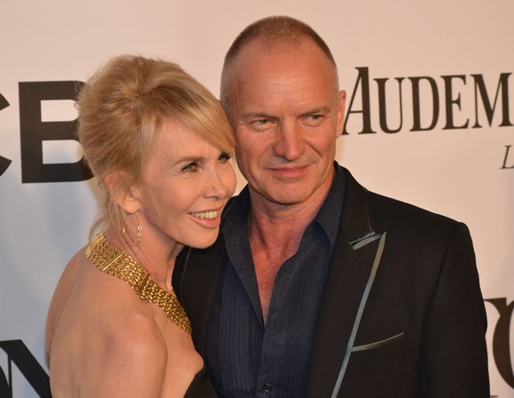 <p>Sting was on hand at the ceremony to show off the score to his upcoming Broadway musical <em>The Last Ship</em>.</p><br />(© David Gordon)