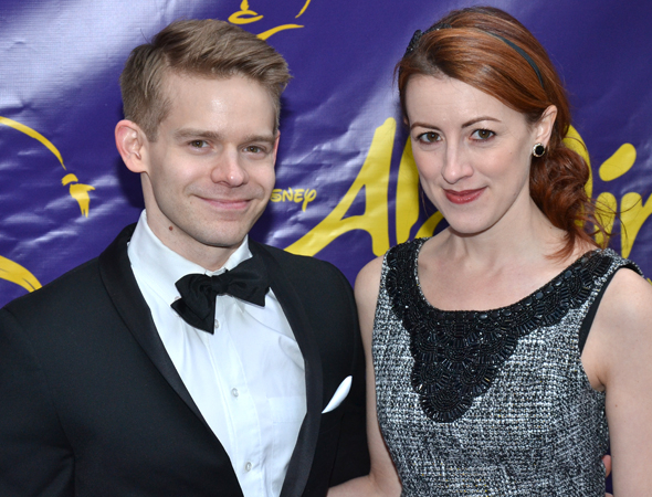 <p><em>Submissions Only</em> creators Andrew Keenan-Bolger and Kate Wetherhead smile for the cameras.</p><br />(© David Gordon)