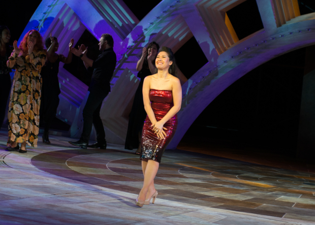 <p><em>Sunday in the Park With George</em> star Ruthie Ann Miles takes a bow.</p><br />(© Allison Stock)