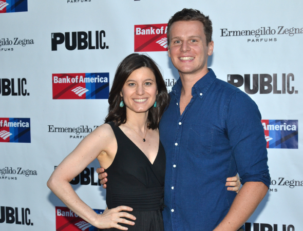 <p>Susan Pourfar and Jonathan Groff were each other&#39&#x3B;s dates for the evening.</p><br />(© David Gordon)