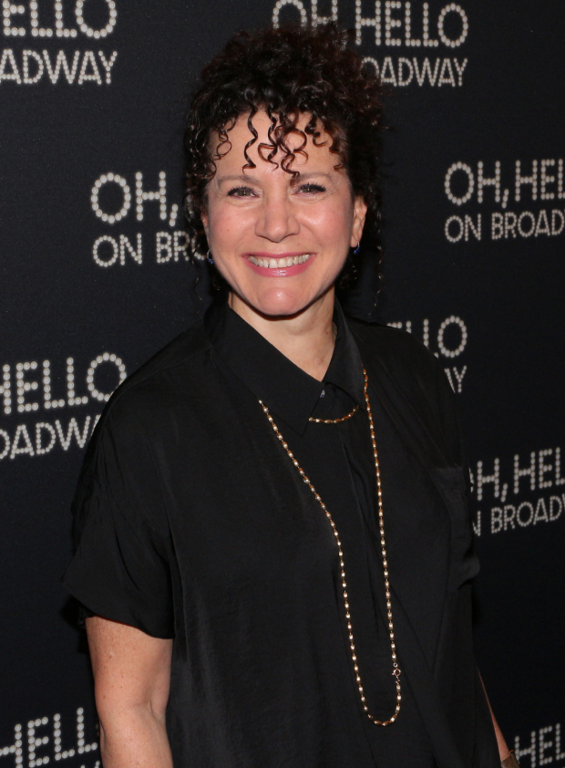 <p>Susie Essman arrives for the opening-night performance of <em>Oh, Hello on Broadway</em>.</p><br />(© David Gordon)