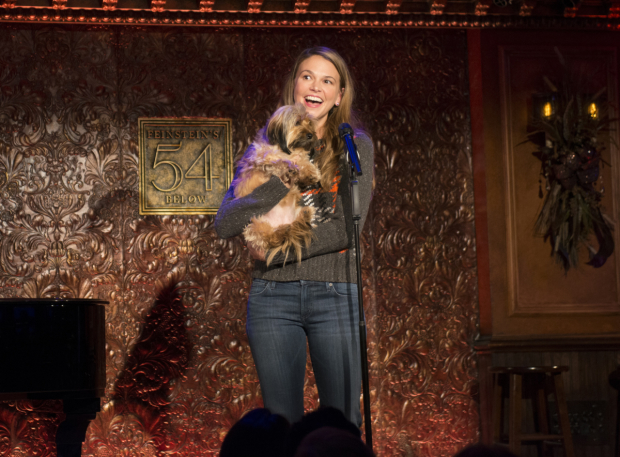 <p>Sutton Foster and her dog Mabel take the stage at Feinstein&#39&#x3B;s/54 Below.</p><br />(© Allison Stock)