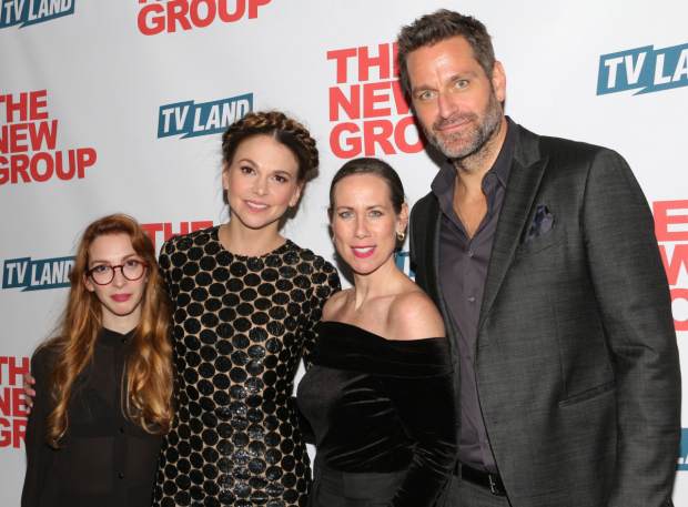 <p>Sutton Foster and her <em>Younger</em> family: Molly Bernard, Miriam Shor, and Peter Hermann.</p><br />(© David Gordon)