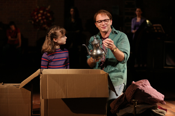 <p>Sydney Lucas and Michael Cerveris have a father-daughter moment. </p><br />(© Joan Marcus)