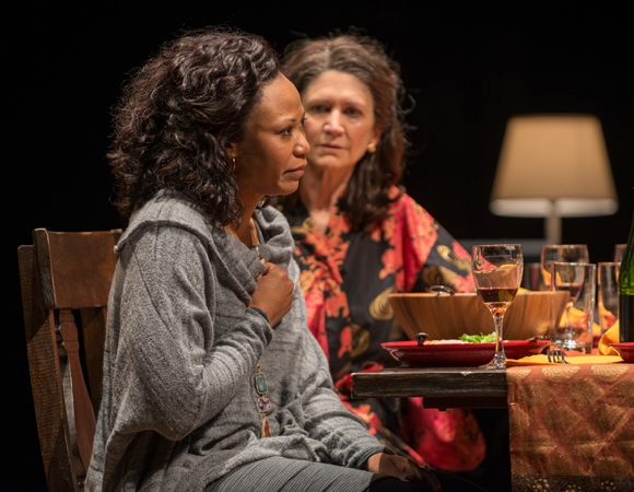 <p>Sylvia (Alana Arenas) and Beth (Molly Regan) share the stage.</p><br />(© BROSILOW)