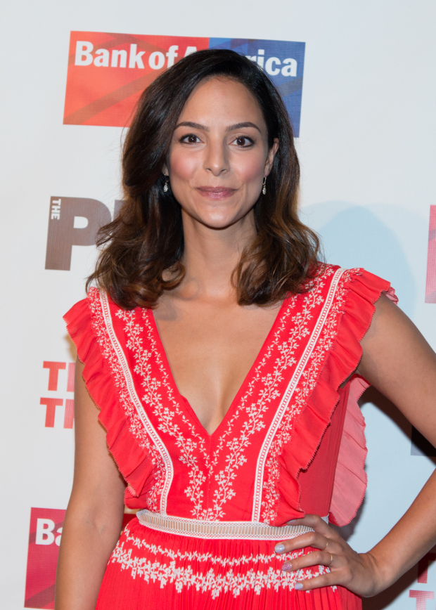 <p>Tala Ashe takes on the dual roles of Helen and Andromache.</p><br />(© Allison Stock)