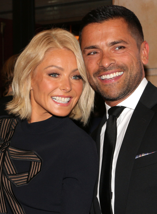 <p>Talk-show host Kelly Ripa and her husband, actor Marc Consuelos, are on hand to support their pal Christian Hebel, <em>Spring Awakening</em>&#39&#x3B;s violinist.</p><br />(© David Gordon)