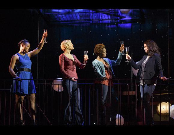 <p>Tamika Lawrence, Jenn Colella, LaChanze, and Idina Menzel propose a toast in <em>If/Then</em>.</p><br />Joan Marcus