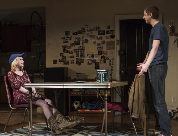 <p>Tavi Gevinson and Michael Cera make their Broadway debuts in the production.</p><br />(© Brigitte Lacombe)