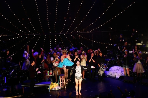 <p>Taylor Mac takes a bow at curtain call.</p><br />(© Little Fang Photo)