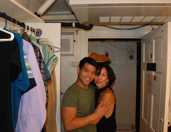 <p>Telly Leung and our ridonkulously talented choreographer JoAnn M. Hunter hug it out. #wegotogether</p>