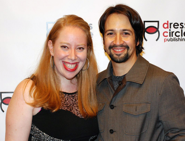 <p>Tepper and Lin-Manuel Miranda smile for the cameras.</p><br />(© Kristin Goehring)