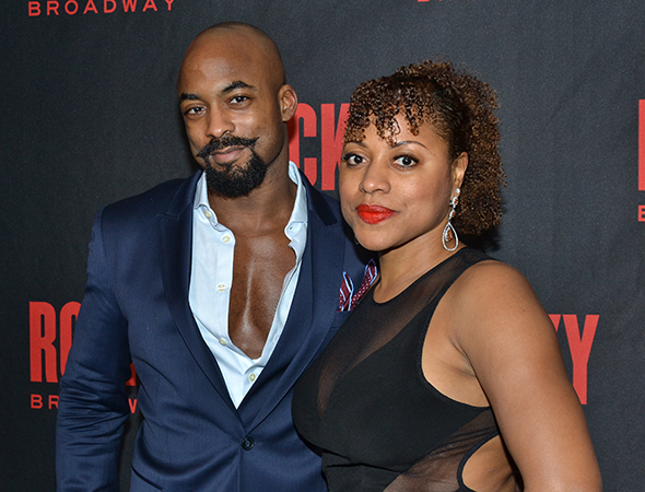 <p>Terence Archie, who plays Apollo Creed, shares the evening with his wife, Kedist Beckford-Archie.</p><br />(© David Gordon)