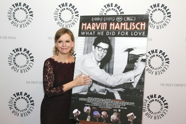 <p>Terre Blair Hamlisch poses next to her husband.</p><br />(© Heidi Gutman)