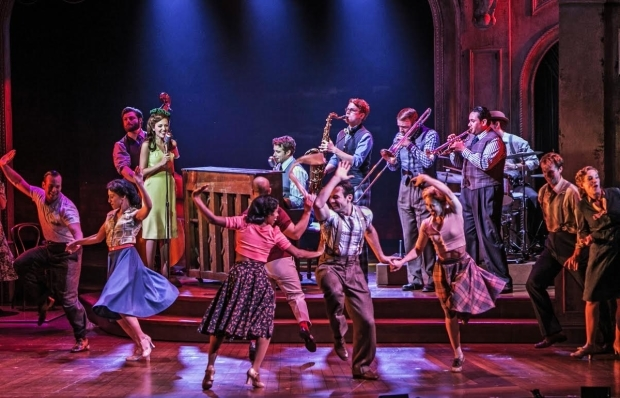 <p><em>The Bandstand</em> showcases Andy Blankenbuehler&#39&#x3B;s 1940s-style choreography.</p><br />(© Jerry Dalia)
