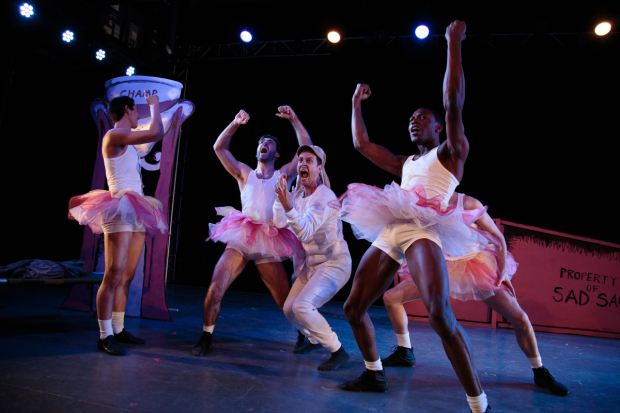 <p>The boys of <em>Blueprint Specials</em> proudly wear their tutus.</p><br />(© Ryan Jensen)