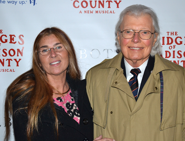 <p><em>The Bridges of Madison County</em> author Robert James Waller and his wife, Linda Bow, traveled from Texas to see the new musical on Broadway.</p><br />(© David Gordon)