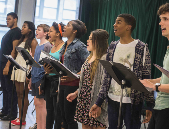 <p>The Broadway Dreams Foundation students sing from Gary William Friedman and Will Holt&#39&#x3B;s score.</p><br />(© Monica Simoes)