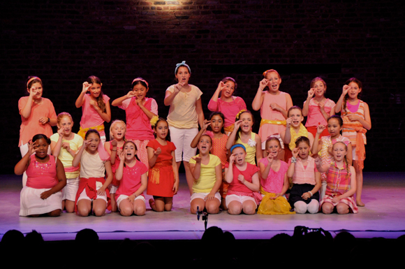 <p>The campers perform a <em>Seussical Jr.</em> segment. </p><br />(© Genevieve Rafter Keddy)