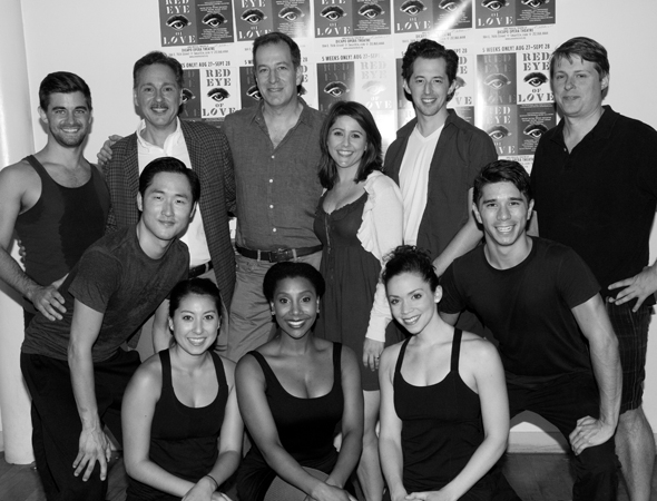 <p>The cast and creative team of <em>Red Eye of Love</em>.</p><br />(© David Gordon)