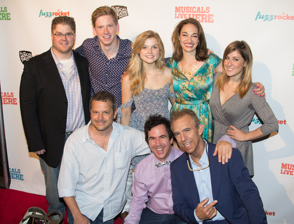 <p>The cast and creative team of <em>Somewhere With You</em>.</p><br />(© Seth Walters)