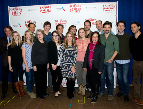 <p>The cast and creative team of <em>The Bridges of Madison County</em>.</p><br />(© David Gordon)