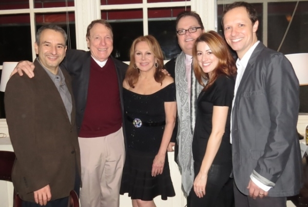 <p>The cast and creatives of <em>Clever Little Lies</em> at George Street Playhouse (L to R):  Playwright Joe DiPietro, Greg Mullavey, Marlo Thomas, GSP Artistic Director/Director David Saint, Kate Wetherhead, and Jim Stanek.</p><br />(© Jackie Brady)