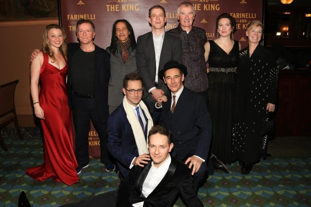 <p>The cast celebrates opening night.</p><br />(© Tricia Baron)