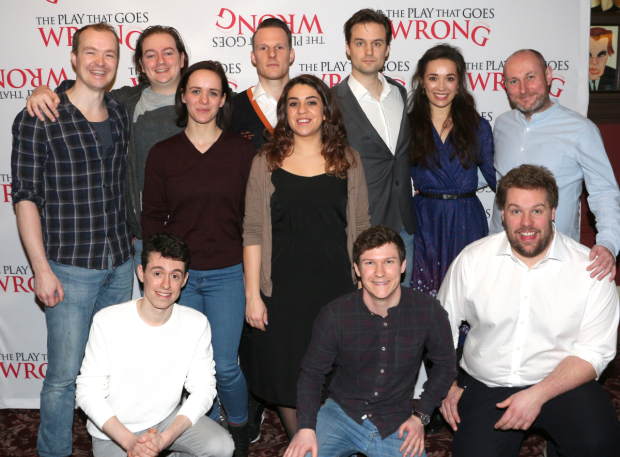 <p>The cast is ready to right their <em>Wrong</em> on Broadway.</p><br />(© David Gordon)