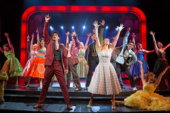 <p>The cast members of Paper Mill&#39&#x3B;s <em>Grease</em> show off their spirit.</p><br />(© Matthew Murphy)