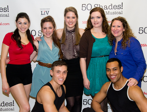 <p>The cast of <em>50 Shades! The Musical</em>: Casey Rogers, Kaitlyn Frotton, Alec Varcas, Chloe Williamson, Amber Petty, Ashley Ward, and Adam Hyndman.</p><br />(© David Gordon)