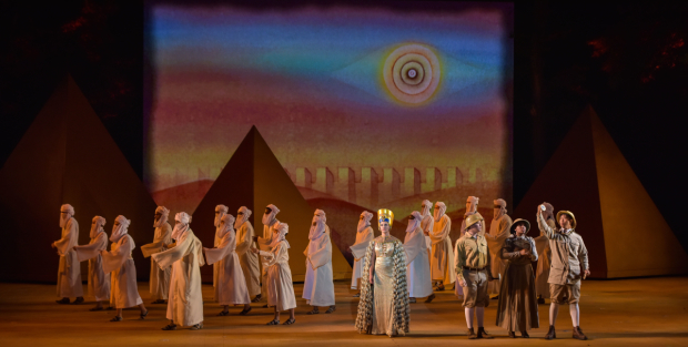 <p>The cast of <em>Aidia</em> onstage at the Muny.</p><br />(courtesy of The Muny)