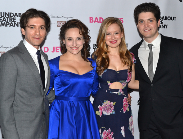 <p>The cast of <em>Bad Jews</em>: Michael Zegen, Tracee Chimo, Molly Ranson, and Philip Ettinger.</p><br />(© David Gordon)