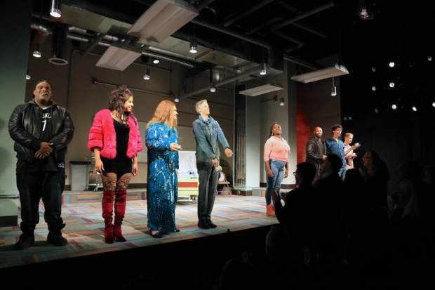<p>The cast of <em>Charm</em> take their bows at curtain call.</p><br />(© Tricia Baron)