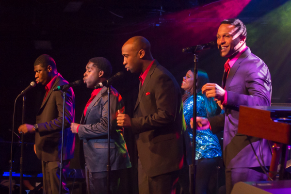 <p>The cast of Motown The Musical does a medley from the show.</p><br />(© Seth Walters)