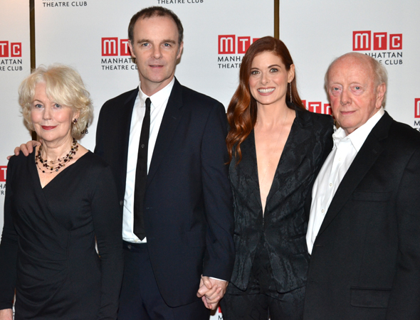 <p>The cast of <em>Outside Mullingar</em>: Dearbhla Molloy, Brían F. O&#39&#x3B;Byrne, Debra Messing, and Peter Maloney.</p><br />(© David Gordon)