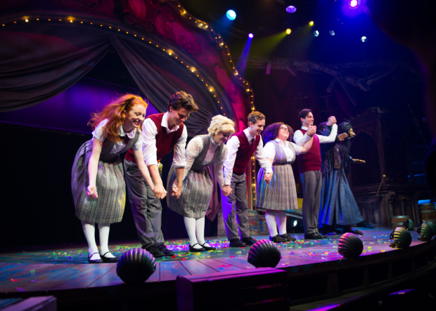 <p>The cast of <em>Ride the Cyclone</em> take their opening-night bows.</p><br />(© Allison Stock)