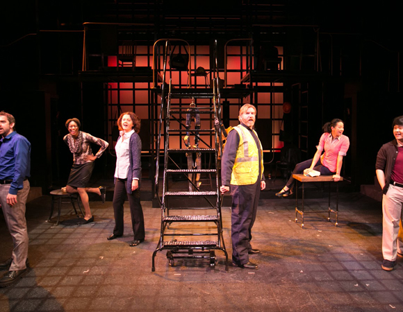 <p>The cast of Stephen Schwartz&#39&#x3B;s <em>Working</em>, now running at Boston&#39&#x3B;s Lyric Stage Company. </p><br />(© Mark S. Howard)
